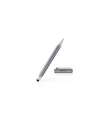 Wacom Gen. 3 Bamboo Stylus Duo with ballpoint pen for Kindle Fire, iPad and Samsung Galaxy - Gray (CS170K)