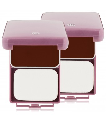 CoverGirl Queen Collection Natural Hue Compact Foundation, True Ebony 555, 0.4 Ounce Compact