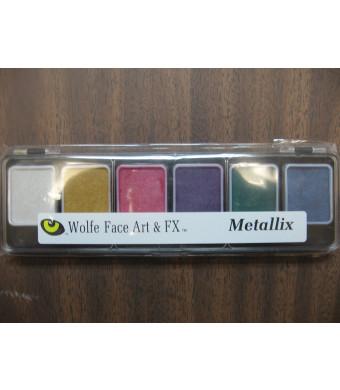 Wolfe 6 Color Palette/Face Paint Kit (Metallix)