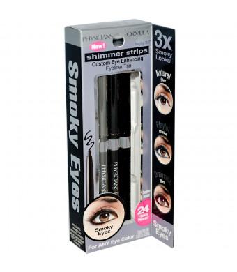Physicians Formula Shimmer Strips Custom Eye Enhancing Eyeliner Trio, Universal Looks Collection, Smoky Eyes, 0.03 Ounce