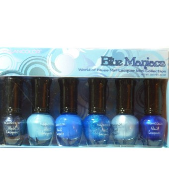 Kleancolor Nail Lacquer Mini Collection - Blue Maniacs (NPC602)