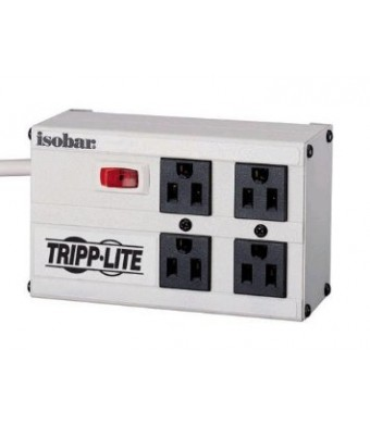 Tripp Lite ISOBAR4 Isobar Surge Protector Metal 4 Outlet 6 feet Cord 3330 Joules
