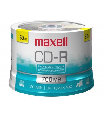 MAXELL CDR700-50Y 50-Disc CD-R Cakebox