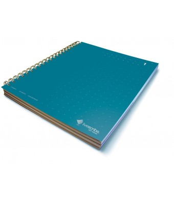 Livescribe 8.5 x 11 3-Subject Notebook #1 (Dark Blue)