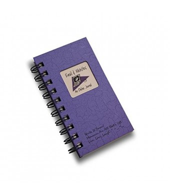 Email and Websites, An Online Journal - MINI Color Hard Cover (prompts on every page, recycled paper, read more...)