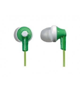 Panasonic RPHJE120G In-Ear Headphone, Green