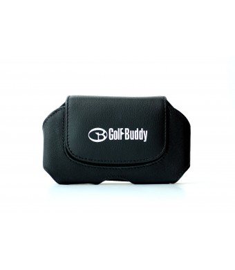 GolfBuddy Leather Holster Accessory, Black