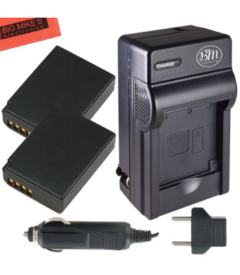 Pack of 2 LP-E10 Batteries and Battery Charger Kit for EOS 1100D, EOS Rebel T3, Rebel T5, EOS Kiss X50 + More!!