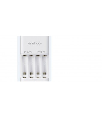 eneloop 4-Position Ni-MH Rechargeable Battery Charger (white)