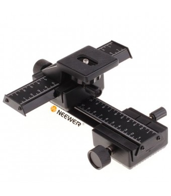 Neewer Pro(Pro Version of Neewer Product) 4 Way Macro Focusing Focus Rail Slider /Close-up Shooting for Canon Nikon Pentax Olympus Sony Samsung and O