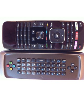 Original New VIZIO Smart TV Remote control---with Qwerty dual side keyboard amazon--Netlix--M-GO Wide key remote control