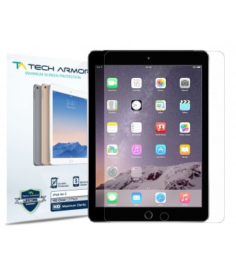 Tech Armor Apple iPad Air 2 / iPad Air (first generation) High Defintion (HD) Clear Screen Protectors -- Maximum Clarity and Touchscreen Accuracy [2P