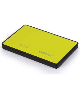 ORICO Tool Free 2.5 inch USB 3.0 SATA External Hard Drive Enclosure for 7mm/9.5mm 2.5 inch HDD and SSD [Support UASP and SATA III]- Yellow