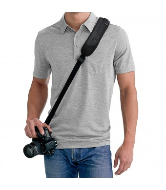 Quick Release Sling Shoulder Neck Strap for DSLR Camera (Canon Nikon Sony Pentax and more) + MagicFiber Microfiber Cleaning Cloth