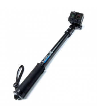 "SANDMARC Pole - Black Edition: 17"" -40""  Telescoping Extension Pole for GoPro Hero 4, 3+, 3, 2 and HD Cameras"