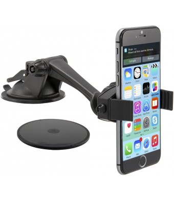Arkon Windshield or Dash Smartphone Car Mount for Apple iPhone 6 Plus iPhone 6 5 5S 5C Samsung Galaxy S6 S5 S4 Note 4 3 LG G3
