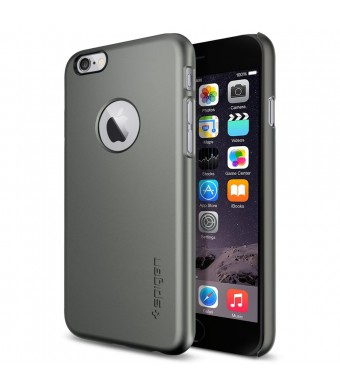 iPhone 6 Case, Spigen [Logo Shield] iPhone 6 (4.7) Case Slim **NEW** [Fit Series] [Thin Fit A] [Gunmetal] Premium SM Coated Matte Hard with Apple Log