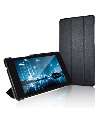 Nexus 7 Case, JETech Gold Slim-Fit Smart Case Cover for Google Nexus 7 2013 Tablet w/Stand and Auto Sleep/Wake Function (Black)