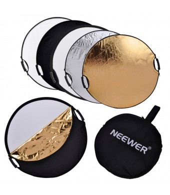 """Neewer 5 in 1 Portable Round 43''Inch/110cm Multi Camera Lighting Reflector/Diffuser Kit with Grip and Carrying Case for Photpgraphy (43""""  Round)"""