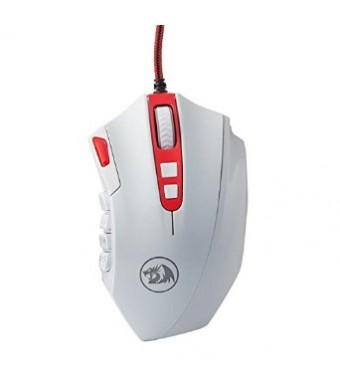 Redragon Perdition 16400 DPI High Precision Programmable Laser Gaming Mouse for PC, MMO, 18 Programmable Buttons, Weight Tuning Cartridge, 12 Side Bu