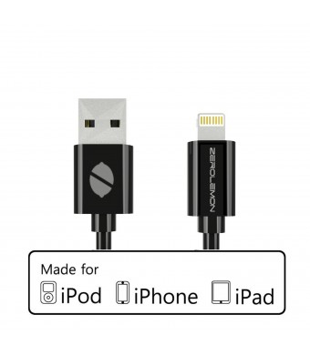 [Apple Mfi Certified] 10 Feet / 3 Meter Zerolemon Lightning to USB Cable for Iphone 5s / 5c / 5, Ipad Air / Mini / Mini2, Ipad 4th Generation, Ipod 5