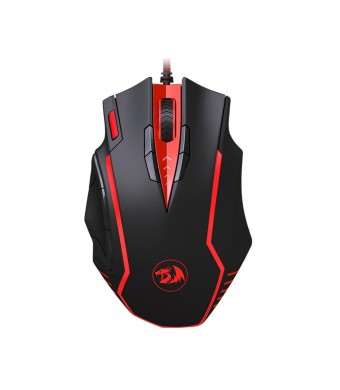 Redragon Samsara M902 16400 DPI High Precision Programmable Laser Gaming Mouse for PC, FPS, 13 Programmable Buttons, Weight Tuning Cartridge, 5 Progr