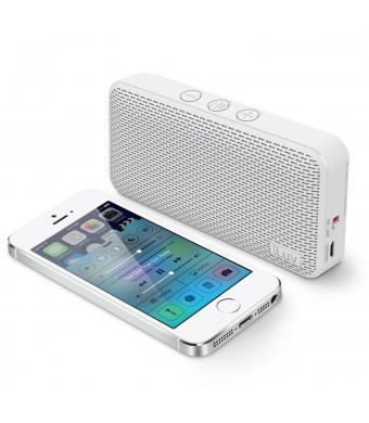 iLuv Aud MiniTM Slim Pocket-Sized Portable Bluetooth Speaker for iPhone 6/6 Plus, 5s/5c/5, 4S; Samsung GALAXY S5, S4, S3, Note 4, Note 3; LG; HTC and