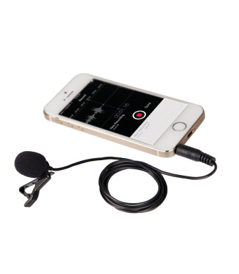 Movo PM10 Deluxe Lavalier Lapel Clip-on Omnidirectional Condenser Microphone for Apple iPhone, iPad, iPod Touch, Android and Windows Smartphones