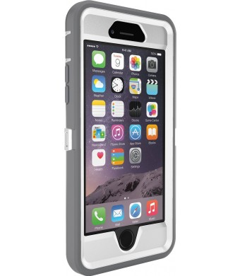 OtterBox iPhone 6 Case - Defender Series, Frustration-Free Packaging - Ap Pink (White/Gunmetal Grey Ap Pink) (4.7 inch)