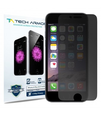Tech Armor Apple iPhone 6 Plus (5.5 inch ONLY) 4-Way, 360 Degree, Privacy Screen Protector - Hassle-Free Lifetime Warranty [1-Pack]