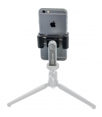 "Square Jellyfish Metal Spring Tripod Mount for Smart Phones 2-1/4 - 3-5/8""  Wide (METAL VERSION)(Stand not Included)"