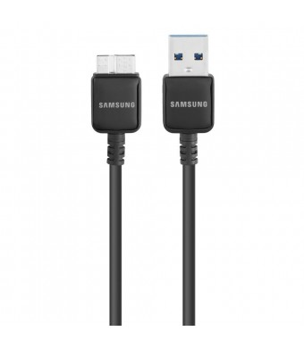 Samsung 5-Feet USB 3.0 Charging Sync Data Cable for Samsung Galaxy S5/Note 3/Tab Pro 12.2/Note Pro 12.2 - Non-Retail Packaging - Black