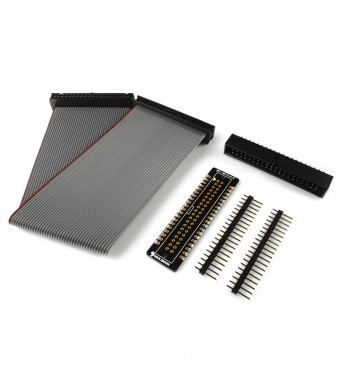 "RPi GPIO Cobbler Plus Breakout Board Kit with 8""  40 Pin Ribbon Cable for Raspberry Pi 2 and B+ A+ (Unassembled)"