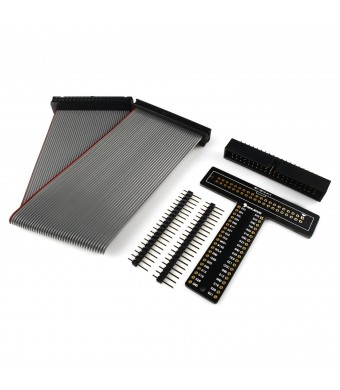 """RPi GPIO T-Cobbler Plus Breakout Board Kit with 8""""  40 Pin Ribbon Cable for Raspberry Pi 2 and B+ A+ (Unassembled)"""
