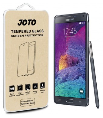 Galaxy Note 4 Tempered Glass Screen Protector - JOTO Galaxy Note 4 0.33 mm Rounded Edge Tempered Glass Screen Protector Film Guard for Samsung Galaxy