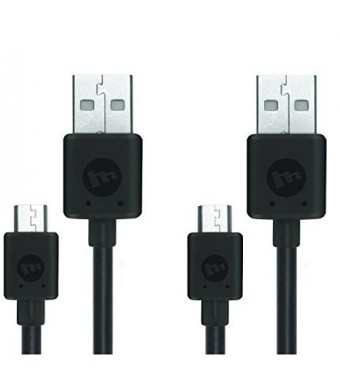 (2 Pack) Original Mophie Micro USB Charging Cable (Bulk packaged)