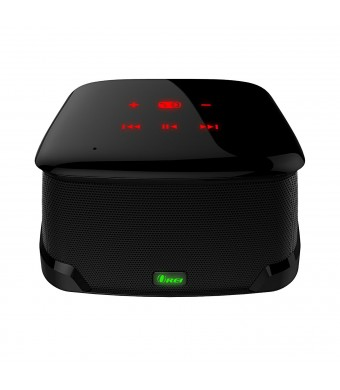 OREI Mini Boom II Enhanced Bass Bluetooth 4.0 Wireless Speaker, Powerful Sound, Built in Mic, Touch Panel and Compact Size