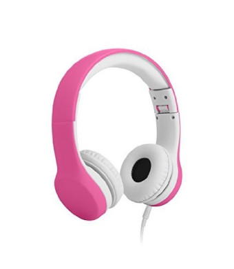 LilGadgets Connect+ Volume Limited Wired Headphones for Children (Pink)