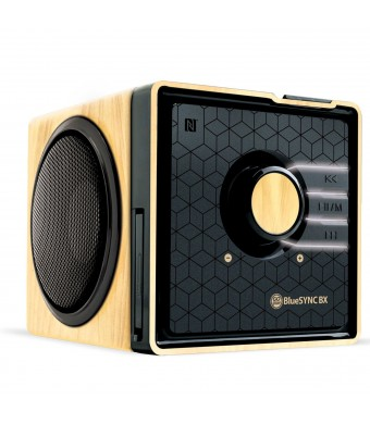 GOgroove BlueSYNC BX Rechargeable Bluetooth Wood Style Speaker with NFC Technology and Removable Battery