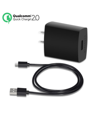 (Quick Charge 2.0)Qualcomm Certified CHOE 18W Adaptive Fast Charger Turbo Charger with Qualcomm Technology for Samsung Galaxy S6 / S6 Edge,Sony Xperi