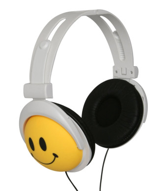 Original, AUTHENTIC HAPPY CANZ, Smiley Face Headphones by Roxant. These Super Cute, Ultra Cool, Over The Ear, Kids Headphones are Fully Adjustable fo