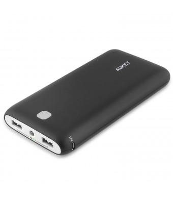 Aukey 20000mAh Portable Charger External Battery Power Bank with AIPower Tech for Apple iPad iPhone Samsung Google Nexus LG HTC Motorola and other US