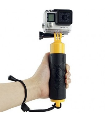 Premium Bobber by CamKix - Floating Hand Grip for GoPro Hero 4, 3+, 3, 2, 1 / Hollow Interior for Storage of Small Items / Textured Silicone Covering