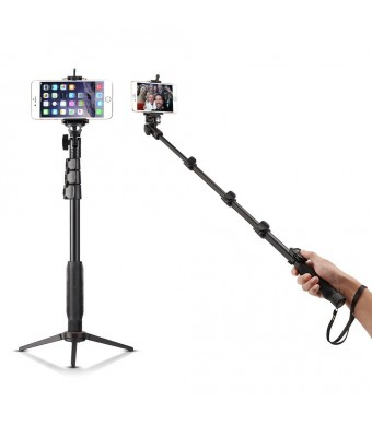 "Bluetooth Selfie Stick with Tripod Stand, Accmor(TM) 18-50""  Self-Portrait Extendable Monopod with Bluetooth Remote Shutter for iOS and Android Phone"