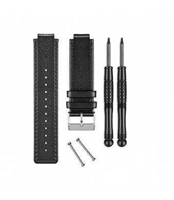 Garmin Vivoactive Replacement Band, Black Leather