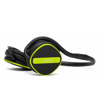 Jarv Joggerz PRO Sports Bluetooth 4.1 Headphones with Built-In Microphone , Foldable Design and Universal Fit- 20 hours of Talk Time, Black/Green