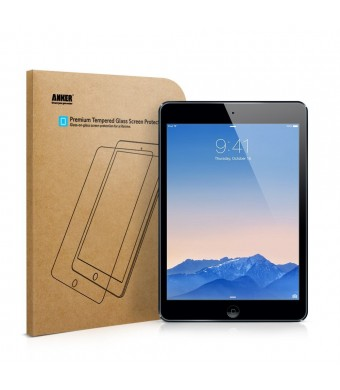 iPad Air Glass Screen Protector, Anker Premium Tempered Glass Screen Protector for iPad Air / iPad Air 2 with 9H Hardness and Easy Installation [Life