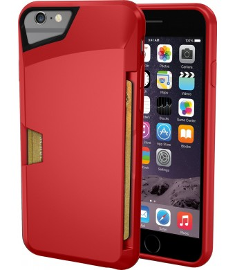 "iPhone 6 Wallet Case - Vault Slim Wallet for iPhone 6 (4.7"" ) by Silk - Ultra Slim Protective Wallet Cover (Red Rouge)"