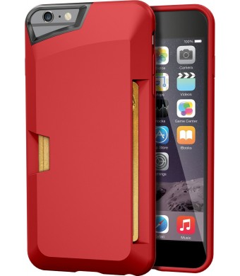 "iPhone 6 Plus Wallet Case - Vault Slim Wallet for iPhone 6 Plus (5.5"" ) by Silk - Ultra Slim Protective Credit Card Carrying Cover (Red Rouge)"
