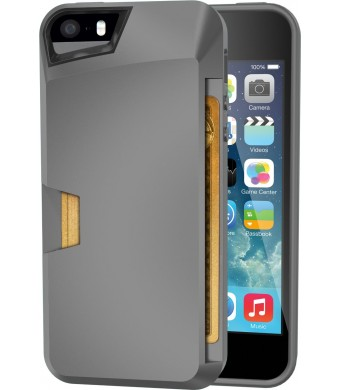 iPhone 5s Wallet Case - Vault Slim Wallet for iPhone 5/5s by Silk - Ultra Slim Protective Wallet Cover (Gunmetal Gray)